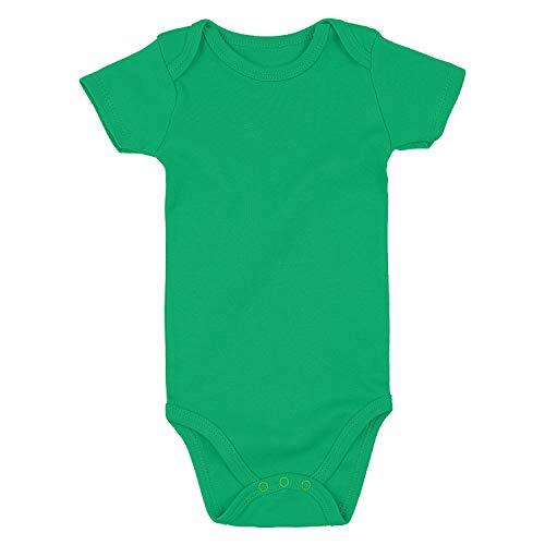 Romperinbox Unisex Solid Baby Bodysuit 0-24 Months (Green, 18-24...
