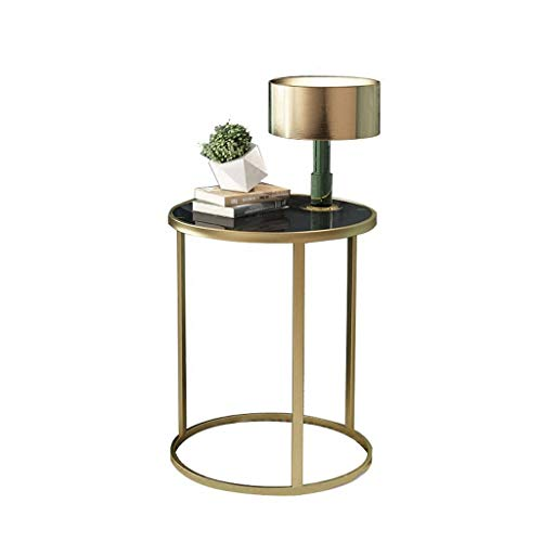 XBBZ - Mesa auxiliar para sofá, mesa auxiliar nórdica, mesa auxiliar de cristal, mesa auxiliar para sofá, sala de estar,...