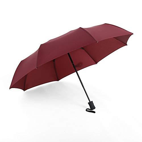 Automatikschirm Regenschirm Automatik Klarschirm High-End-Werbegeschenk Regenschirm, Rot