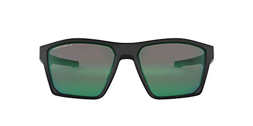 Oakley Men's OO9397 Targetline Square Sunglasses, Matte Black/Prizm Jade Polarized, 58 mm
