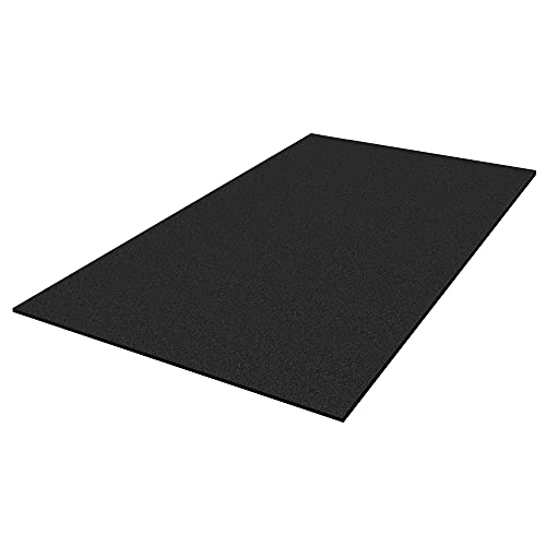IncStores 3/8 Inch Thick Premium Rubber Floor Mat | Large Workout Mat for a Stronger and Safer Workshop, Home Gym, Commercial Weight Room, or Horse Stall | 4x6 Feet, Black, 1 Mat