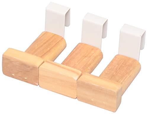 オスマック オープンシェルフ ナチュラル 木製フック 3個セット すのこに付けられる家具 KF-103N