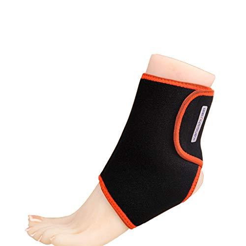 HSJ WDX- Tobillo otoño e Invierno los Deportes del Tobillo Calentar Thin Thin Tobillo Medio Cuidado de la Salud y Equipo de protección Viejo Envejecido Protege los Tobillos (Color : Black)