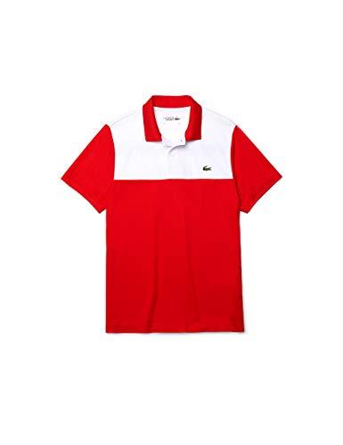 Lacoste Dh4814 Polo, Rosso (Corrida/Blanc/Cosmique Pam), Large (Taglia Unica: 5) Uomo