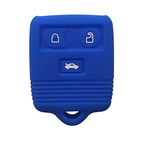 Estuche para Llaves Llave para automóvil Llave remota para automóvil Cubierta para Llave con Llavero de Entrada sin Llave para Mazda Trib 2003G para Ford Transit 2004 MK6 Connect, Azul