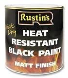 Rustins HRBL500 - Pintura resistente al calor (500 ml), color negro