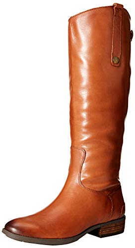 Sam Edelman Women's Penny Riding Boot, Whiskey Leather, 9 Wide US