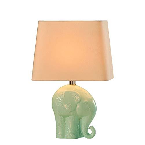 ZQH olifant keramische tafellamp, creatief slaapkamer, bedlampje, Amerikaans, landelijk, bureaulamp, modern, woonkamer, studeerkamer, hotel, decoratieve lampen, E27-knop schakelaar