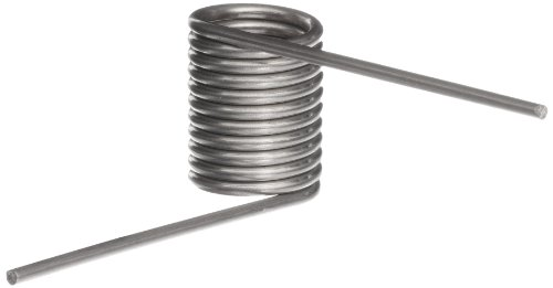 302 Stainless Steel Torsion Spring, Right Hand Wind Direction, 270° Deflection, 0.784' OD, 0.063' Wire Size, 2' Leg Length, 0.516' Mandrel Size, 0.662' Min. Axial Space (Pack of 10)