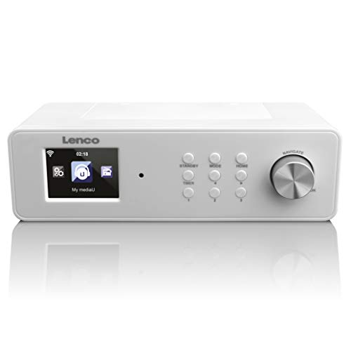 Lenco KCR-2014 - Radio (Internet, Digital, FM, PLL, 4W, 6,1 cm (2.4'), 23,7 cm) Color Blanco