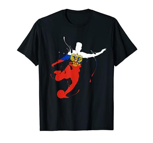 Russland Fußball Trikot Flagge Rossija Futbol T-Shirt
