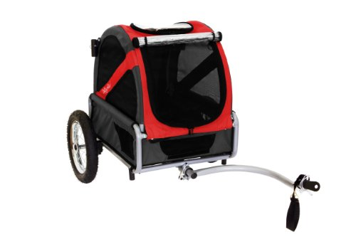 Big Sale Best Cheap Deals DoggyRide Mini Dog Bike Trailer, Rebel Red/Black