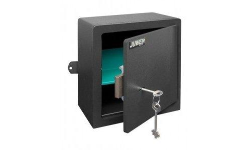 JUWEL BRICKFORM 7031 - Caja fuerte móvil con llave, puerta de 8 mm, 221 x 221 x 131 mm