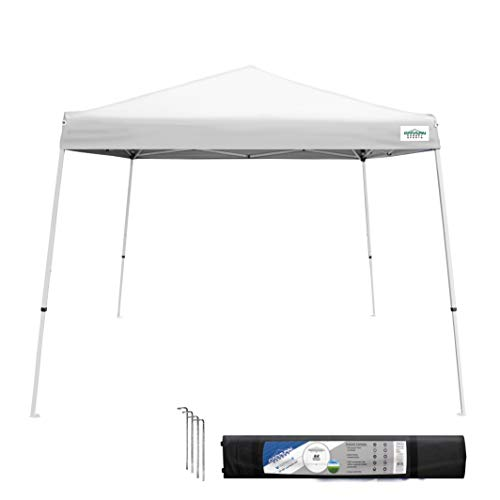 Caravan Canopy 21007900010 10x10 V-Series, 10'x10' base; 8'x8' top, White
