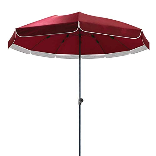 ZGYQGOO Garden Parasol Sun Umbrella Patio Red Outdoor Market Umbrella, Sun-Resistant & Waterproof Patio Umbrella with Three-Layer Reinforced Umbrella Bone, 9.2 Feet