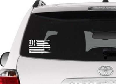 American Flag - Bullets / Decal for Car Window or Tumbler / Sticker Graphic