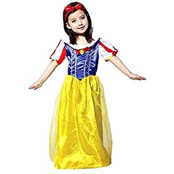 Inception Pro Infinite Disfraz - Disfraz - Carnaval - Halloween - Princesa Blancanieves y los siete enanos - Color amarillo - nia - Talla L - 6 - 7 aos - Idea regalo original