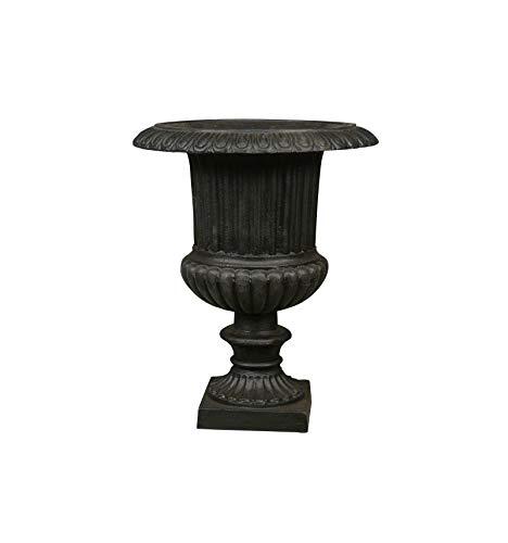 HTdeco - Jardin - Vasques et vases - Vase Médicis en Fonte - H: 48 CM