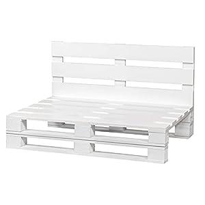 Sofa DE PALETS para Interior/Exterior (60cm X 60cm, Blanco)
