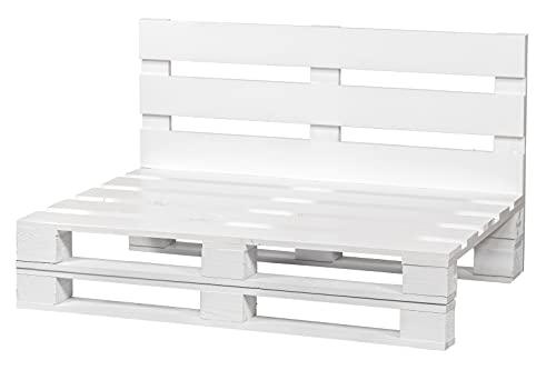 Sofa DE PALETS Lijado Y Cepillado - Interior/Exterior Nuevo Sillon PALETS/Sofa para Patio (120cm X 80cm, Blanco)