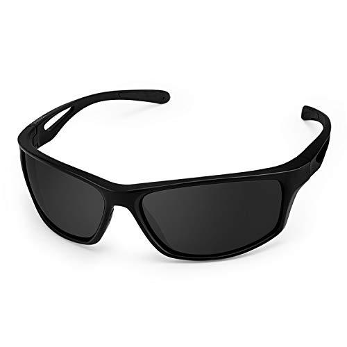 Gafas de Sol Deportivas, CHEREEKI Gafas de Sol Deportivas Polarizadas con Proteccion UV400 & marco TR90 Irrompible. Para Hombre y Mujer, Deportes al aire libre, Pesca, Ski, Conducción, Golf, Salir A C