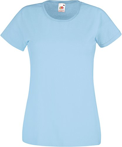 """Basic T-Shirt """"Valueweight"""" - für Damen Farbe hellblau Größe M"""