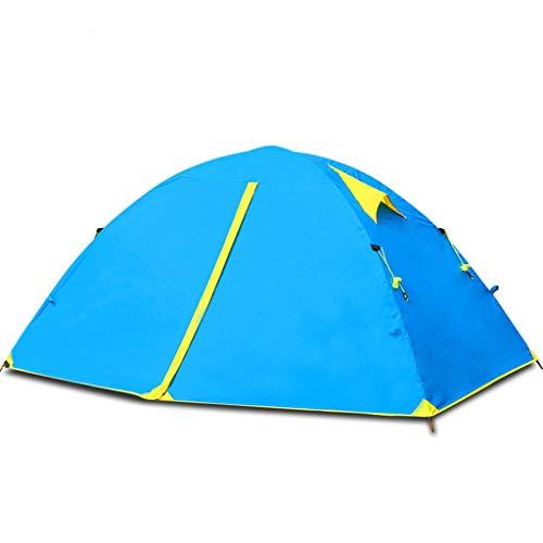 Tienda De Campaña Familiar 2-3 Personas, Refugio Al Aire Libre para Acampar En La Playa, Mochilero Ultraligero, Jardín, Pesca, Picnic, Viaje, Verde, Naranja, Azul