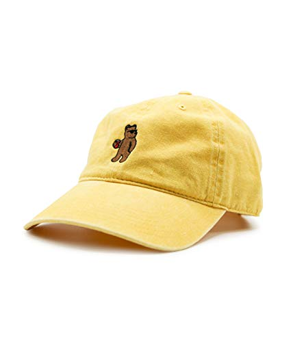 Riot Society Riot Bear Embroidered Dad Hat - Yellow, One Size