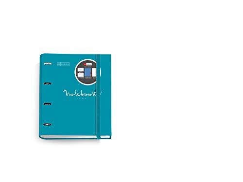 MIQUELRIUS - Carpebloc Notebook Messages - Carpeta Archivador con 4 Anillas +...