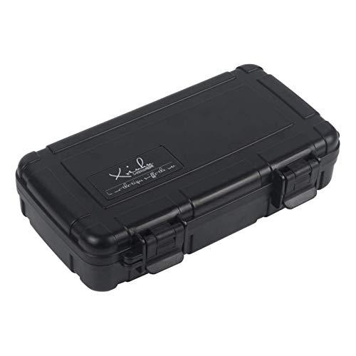 Humidor écharpe de Ceinture Portable 8.85x5.11x1.77 Pouces 5 pièces Noir for Le ble Bureau Classique humidificateur à cigares Portable