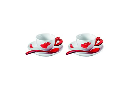 Guzzini 8008392290049 - Juego de 2 tazas de café A/soposta-cuchara Love