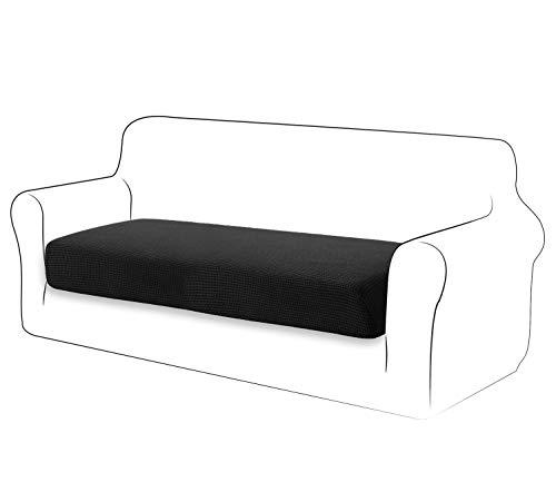 TIANSHU High Stretch Kissenbezug Sofakissen Schonbezug Möbelschutz Sofasitzbezug für Couch 1-teilige Kissenbezüge für 2 Sitzer (2 Sitzer, Schwarz)