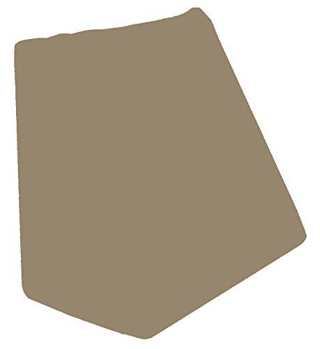 Kirsten Balk Keilkissen + passenden Bezug 30x50x60 cm Q2 Jersey Exklusiv 100% feinste Baumwolle mit 150 gr/m2 Farbe (83 Espresso)