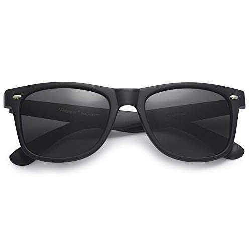 PolarSpex Classic 80 Style Black Wayfarer Sunglasses for Adults