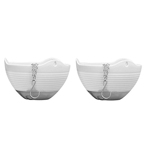 Teckpeak - Pflanzengefäße & Gefäßzubehör in Weiß, Größe 20×20×14cm