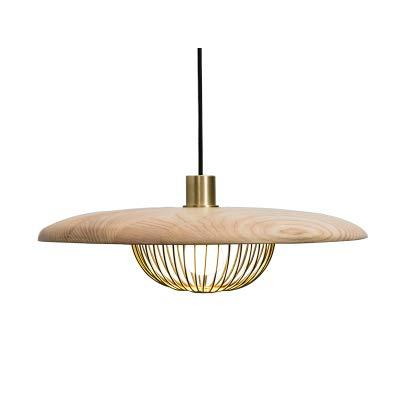 5151BuyWorld Nordic lamp, eenvoudig design, modern, van metaal, hoogwaardige combinatie van hout, voor eetkamer, werkkamer, pesonaliteit, verlichting, decoratie, licht, oorbellen, accessoires {45 cm}