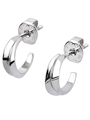 BREIL JEWEL Ladys' JOIN UP collection, STEEL EARRINGS UNIQUE, SILVER color with NO STONES - TJ2929