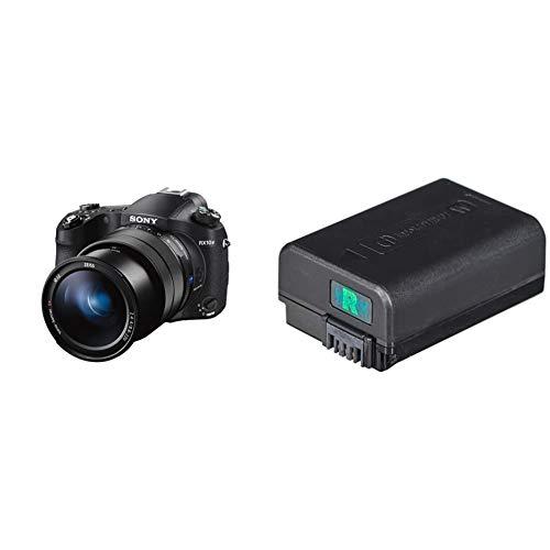 Sony RX10 IV Fotocamera Digitale Compatta, Sensore da 1.0'', Ottica 24-600 mm F2.8-4.0 Zeiss, Elevate Prestazioni di AF & NP-FW50 Batteria Ricaricabile per Fotocamere con Obiettivo Intercambiabile