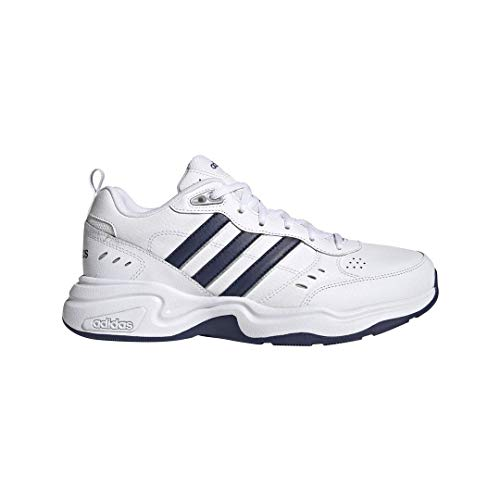 adidas Men's Strutter Wide Cross Trainer, Dark Blue/Matte Silver/Active Gold, 13 M US