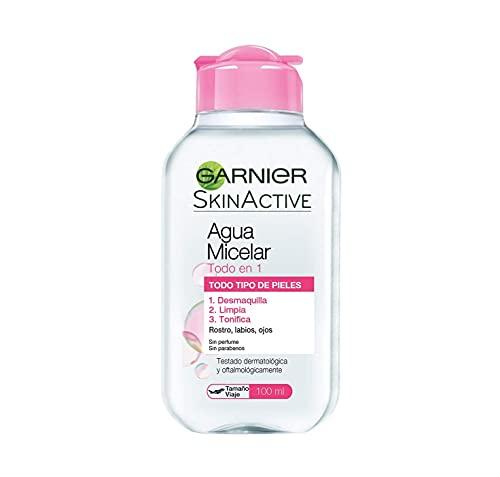 Garnier Skin Active - Agua Micelar Clásica Todo en Uno, Pieles Normales, Formato Viaje, 100 ml