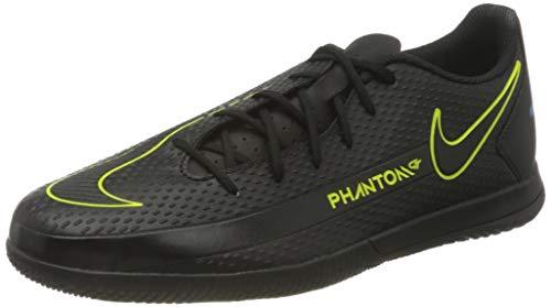 Nike Herren Phantom GT Club IC Football Shoe, Black/Black-Cyber-Light Photo Blue, 44 EU