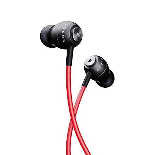 Boult Audio BassBuds Storm-X in-Ear Wired Earphones with Mic and Full Metal Body for Extra Bass & HD Sound with Passive Noise Cancellation (Red)