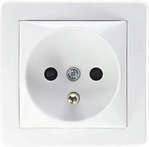 Schneider Electric SC5SHN0262273P Alrea Prise de courant 2 pôles + terre à connexion rapide, Blanc