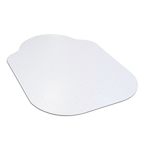 """Evolve Modern Shape 33"""" x 44"""" Clear Office Chair Mat with Lip for Low Pile Carpet, Made in The USA by Dimex, (C5B5003G)"""