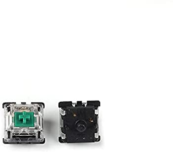 Gateron MX Switch 3 pin and 5 pin Transparent Case Black Red Green Brown Blue Clear Switches for Mechanical Keyboard Cherry MX Compatible  70 PCS Green 5 pin
