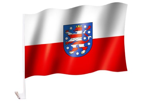Autoflagge/Autofahne Thüringen