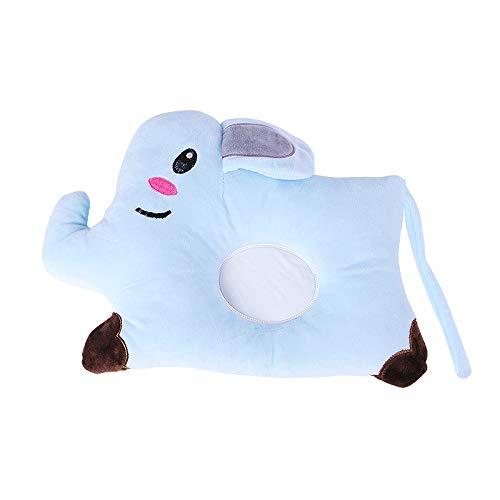 Malomme Babykissen für Atmungsaktive 3D Air Mesh Bio-Baumwolle, Baby Pillow Schutz für Flat Head Syndrom Aniland,Baby kopfkissen,Baby Kissen gegen plattkopf, (Blauer Elefant)