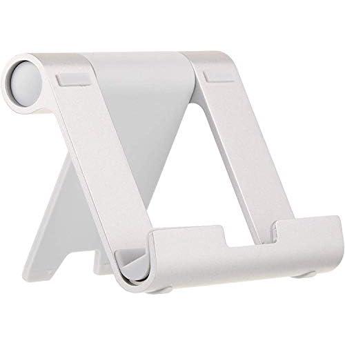 AmazonBasics - Supporto portatile inclinabile per tablet, lettori per e-book e telefoni, Argento