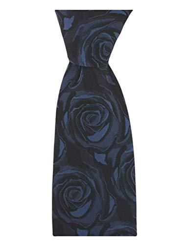 David Van Hagen Cravate marine de mariage de Rose Soie de