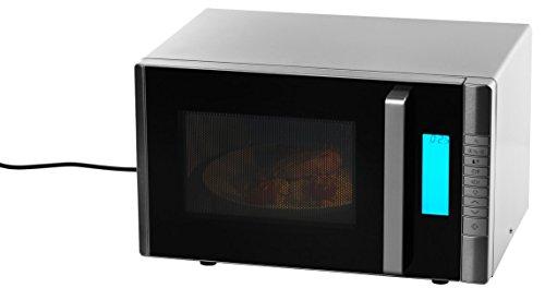 MEDION MD 16550 Mikrowelle mit Grill / 800 Watt Leistung / 1000 Watt Obergrillleistung / 20 L Kapazität / 8 Leistungsstufen / Auftaufunktion / Edelstahlfront